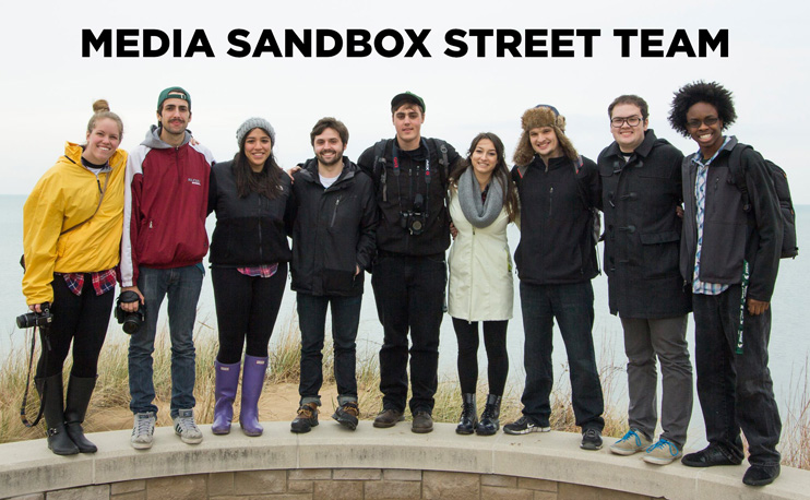 Group picture of the Media Sandbox Street Team
