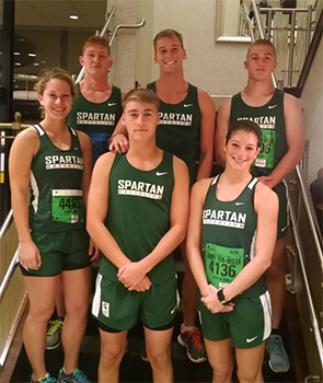 The Spartan Running Club gathered before a race