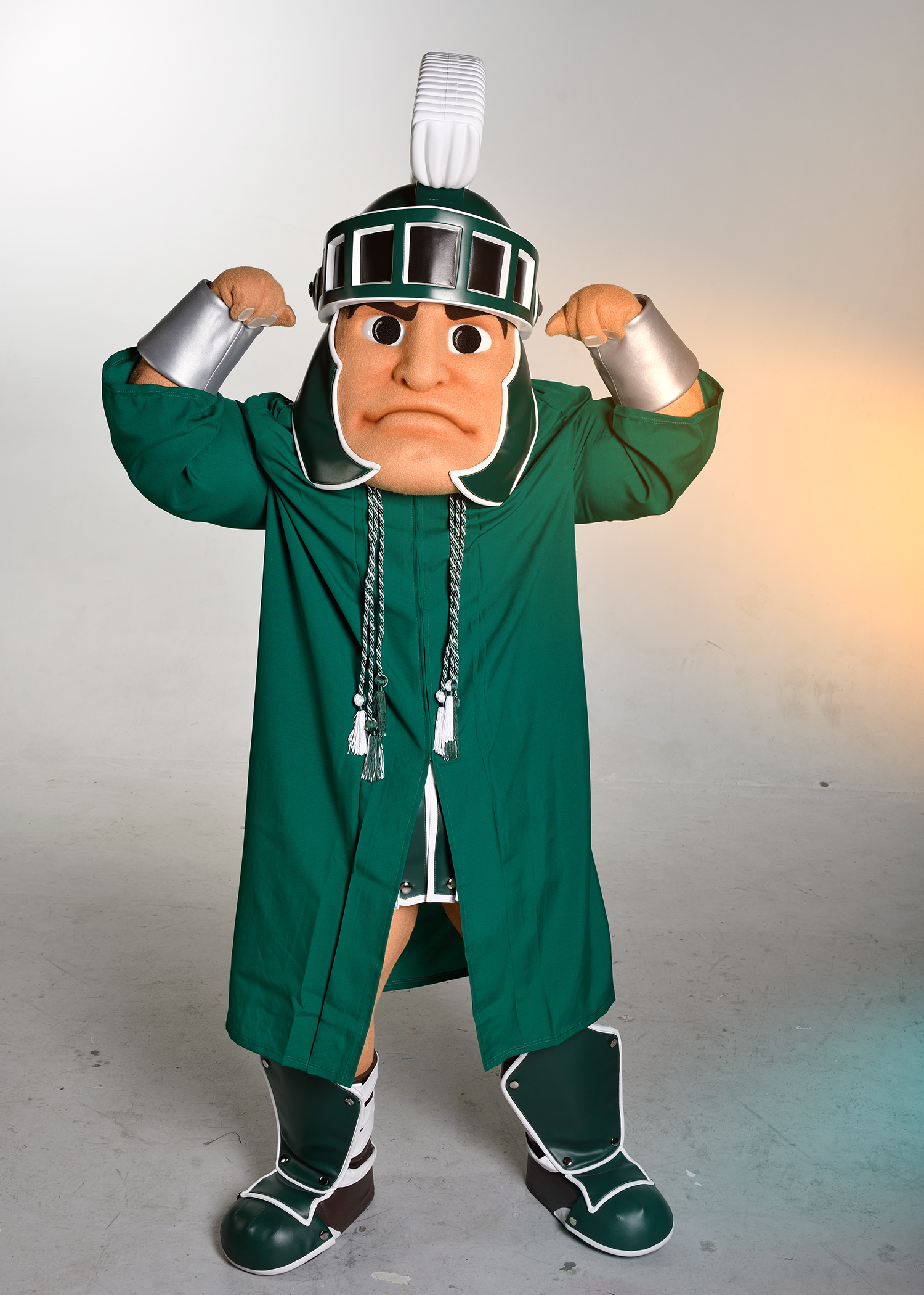 Sparty with philanthropy cords