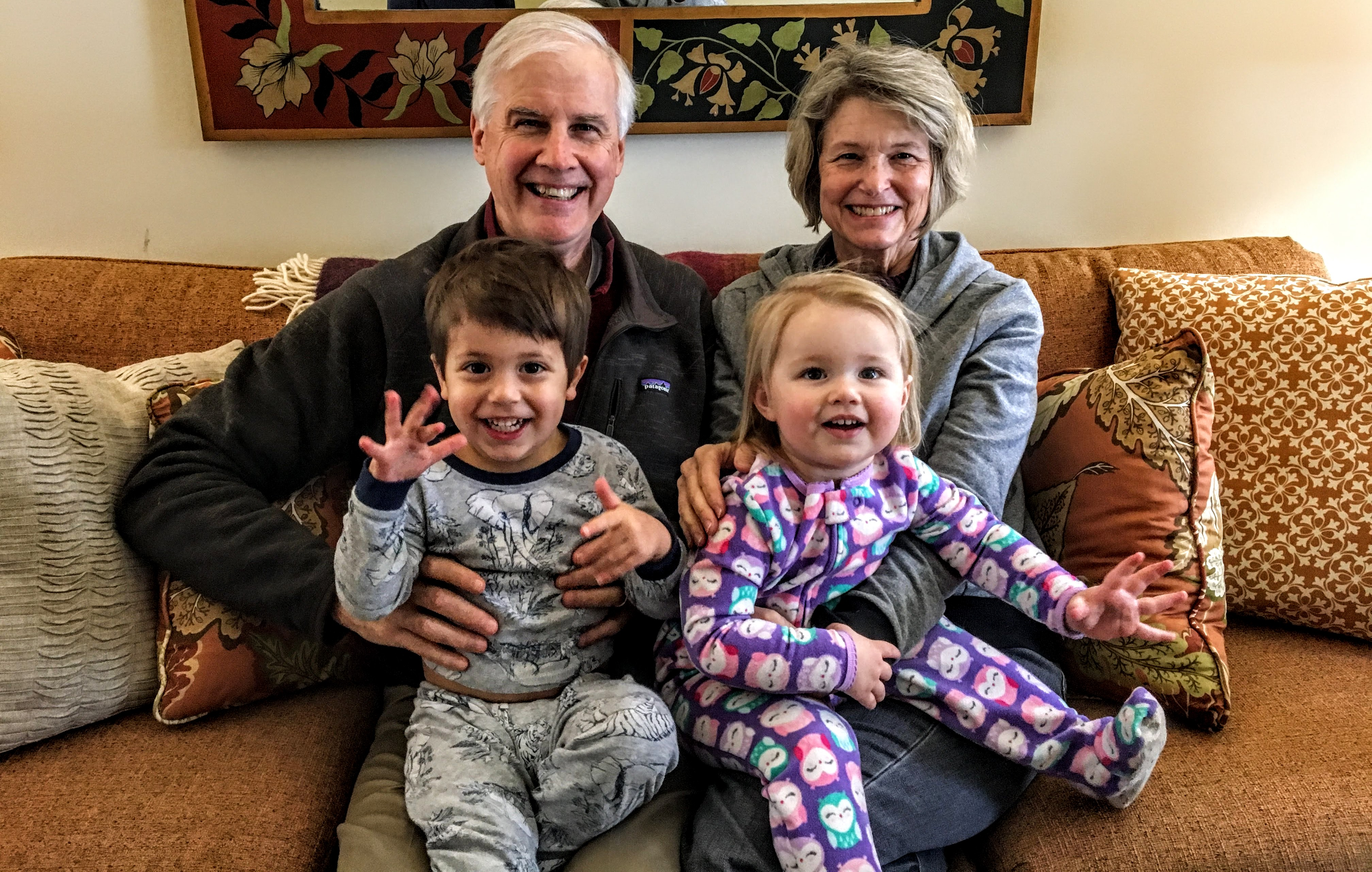 Doug Miller with his grandkids