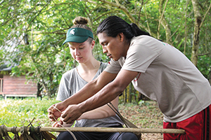 Two students in Costa Rica
