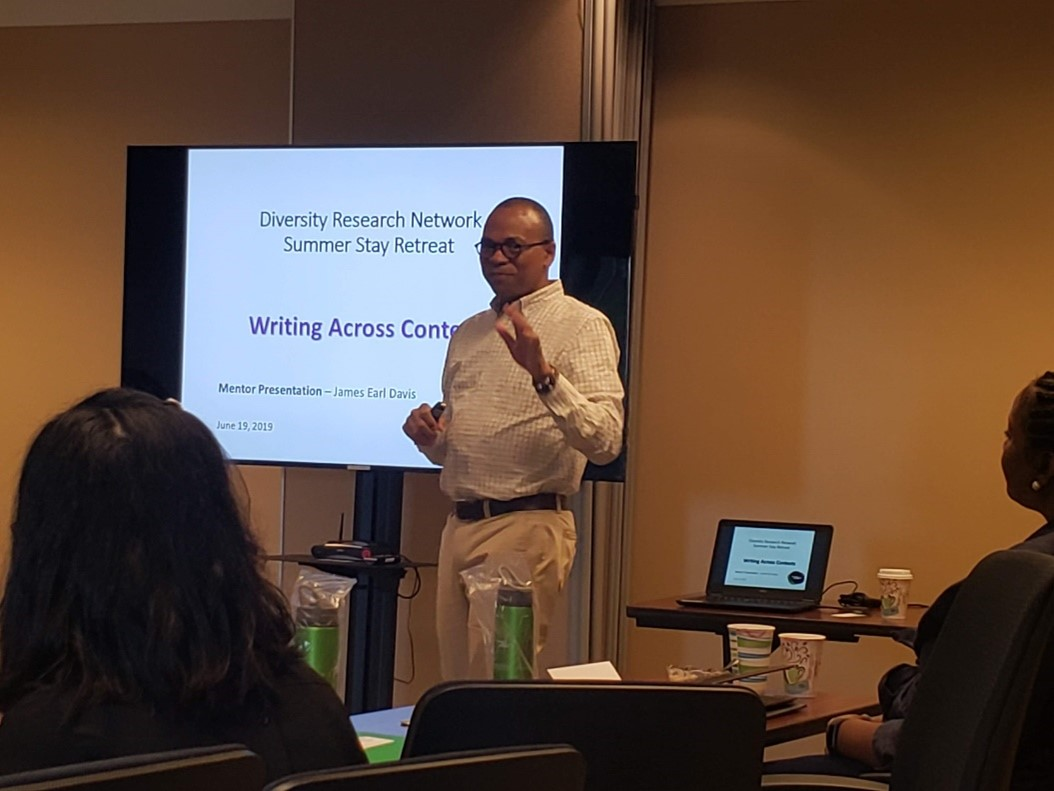 Writing Retreat Consultant Presentations and writing in