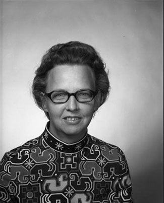 black and white portrait of Loretta VanCamp
