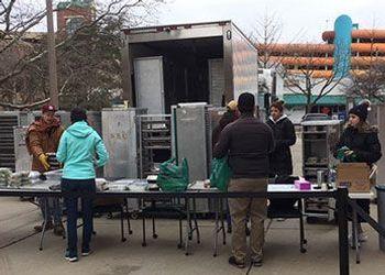 Student Food Bank food distribution