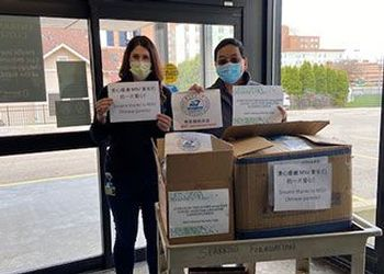Sparrow Hospital receives a shipment of masks