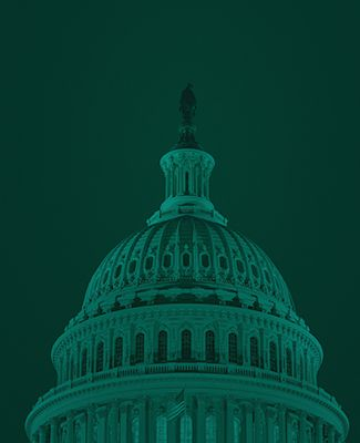 Capitol Building in green duotone