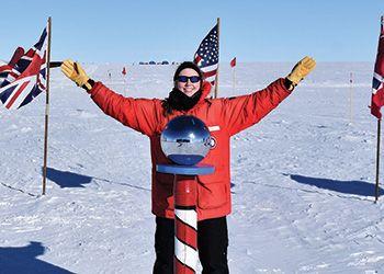 MSU grad student at the South Pole
