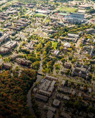 MSU Overhead Shot of Campus