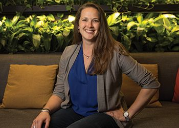 Kendra Levine, who earned a master's degree in the MSU College of Agriculture and Natural Resources in 2015