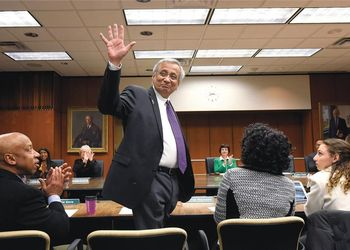 Satish Udpa waves after being appointed MSU's acting president