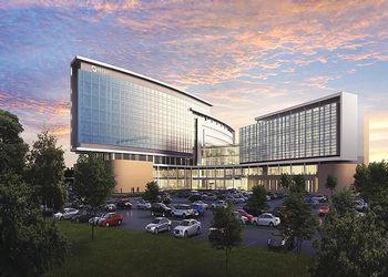 rendering of Mclaren Health building on MSU's campus