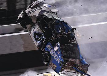 Ryan Newman's car goes airborne during Daytona 500