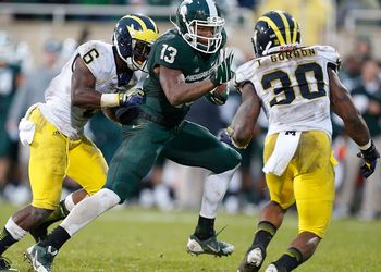 Bennie Fowler playing against the Wolverines.