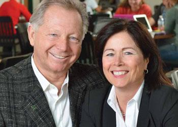 Alumna Pam Steckroat Treadway, pictured here with spouse Dean Treadway, says her bond to MSU is like family. She has created four endowments through her estate plans to Help MSU students.