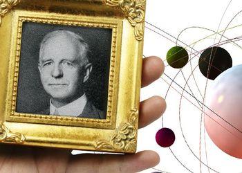 Lyman Briggs portrait in a collage