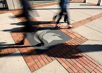 Spartan helmet on sidewalk