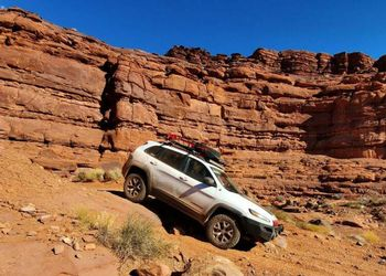Jeep offroad in Utah