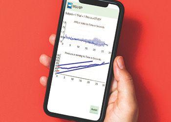 Blood Pressure App on phone