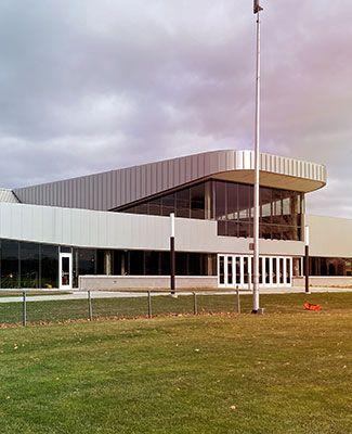 munn ice arena facade