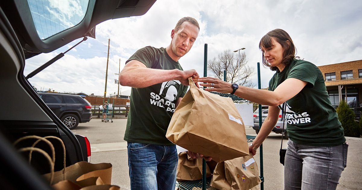 Spartans Volunteer on Global Day of Service