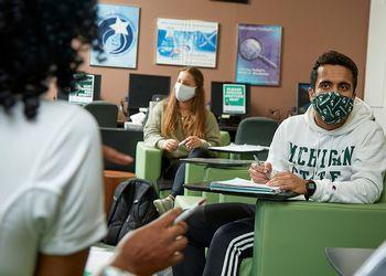 MSU Students studying