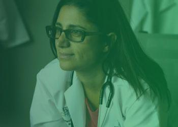 photo of Dr. Mona Hanna-Attisha with green overlay
