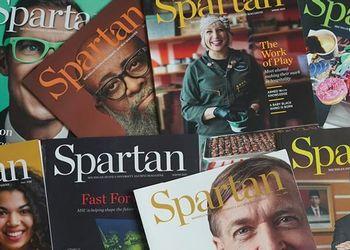 Spartan Alumni Magazine Cover Spring 2021