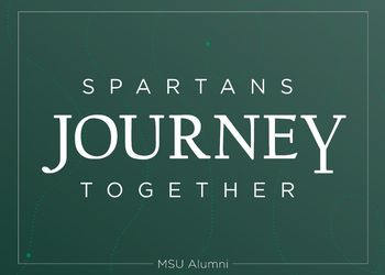 Promotional graphic for the Homecoming theme, Spartans Journey Together