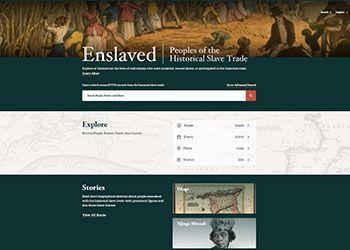 screenshot of enslaved.org homepage