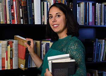 Photo of Amy Simon, the Farber Family Chair in MSU's Jewish Studies Program
