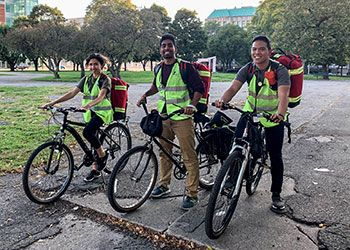 Detroit Street Care team headed out to care for the community on bicycles