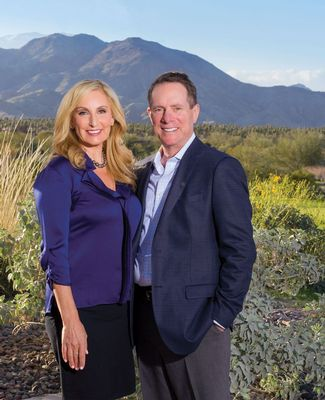 Barbara and Mark Gerson at home in Palm Springs, California