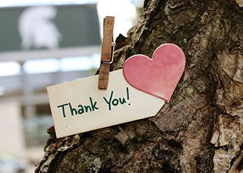 a tiny thank you note
