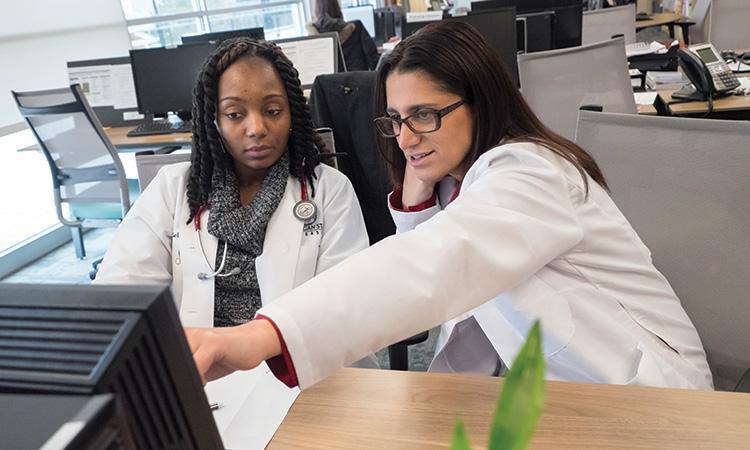 Dr. Hanna-Attisha and medical student