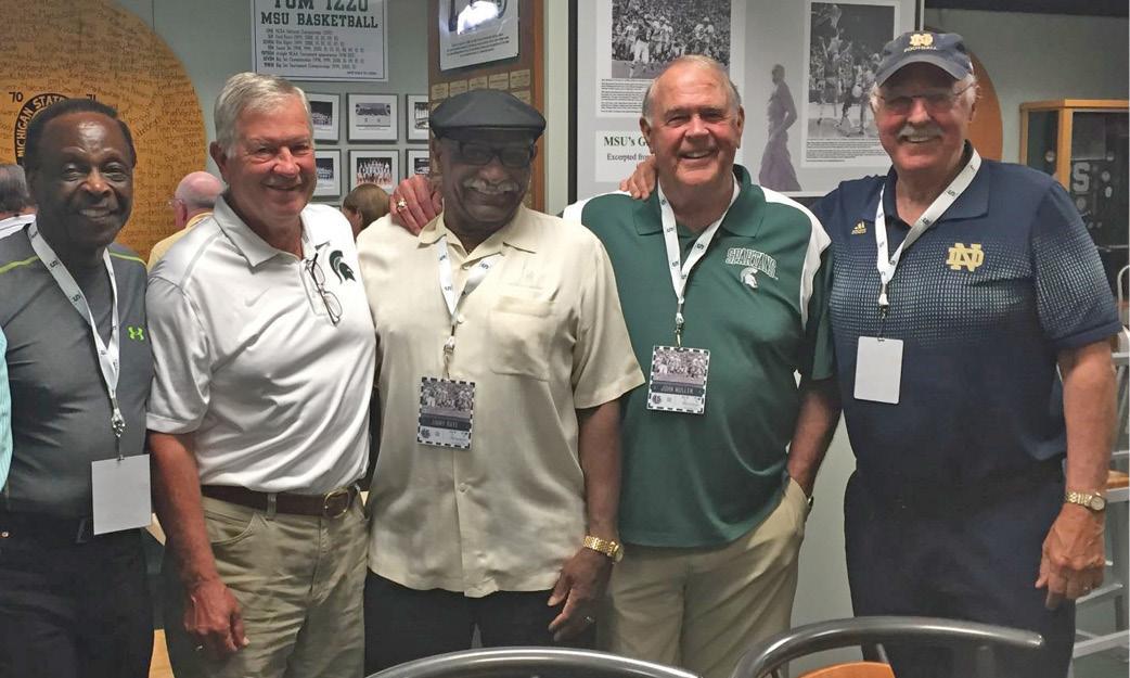 Notre Dame and MSU quarterback reunion.