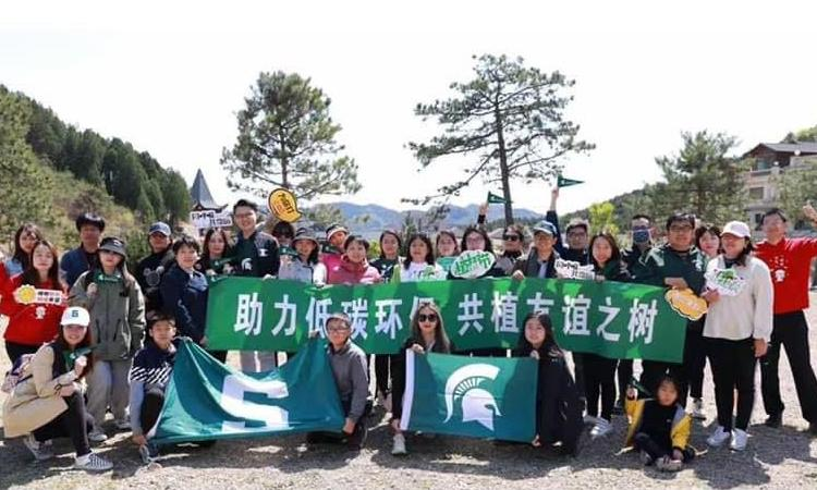 Group of Beijing Spartans after tree planting
