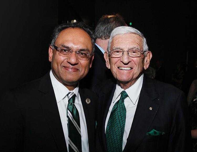 Sanjay Gupta and Eli Broad