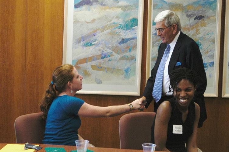 The Broad Scholars at Michigan State University meet Eli Broad