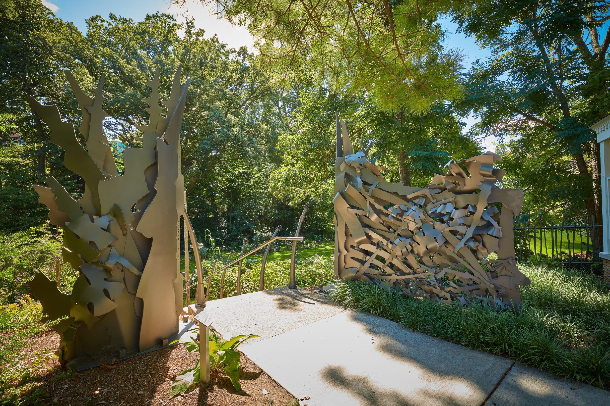 Beal Gardens Gate Sculpture