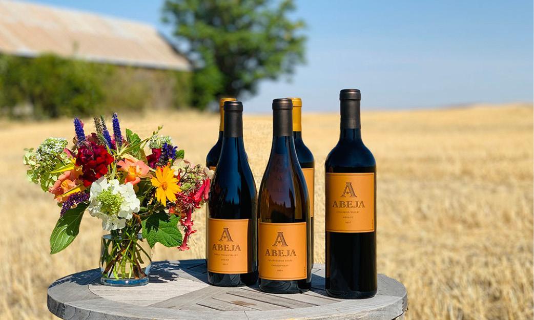 Bottles of Abeja wines