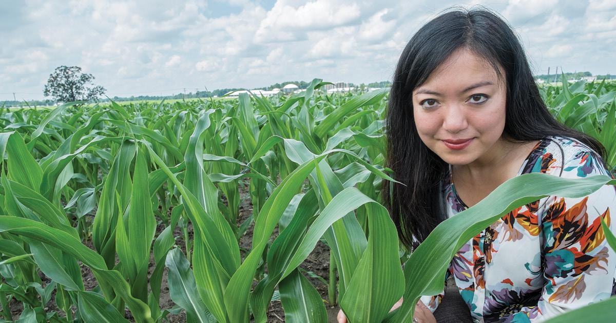 Felicia Wu in the field