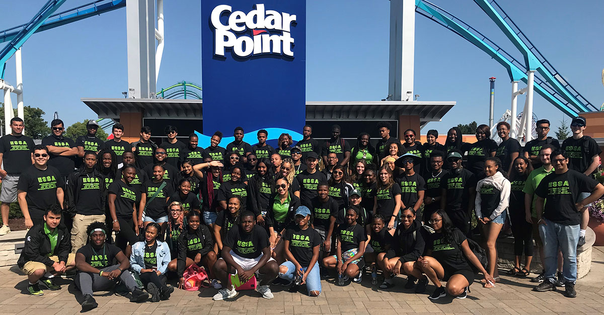 ESSA students gather on an official visit to Cedar Point