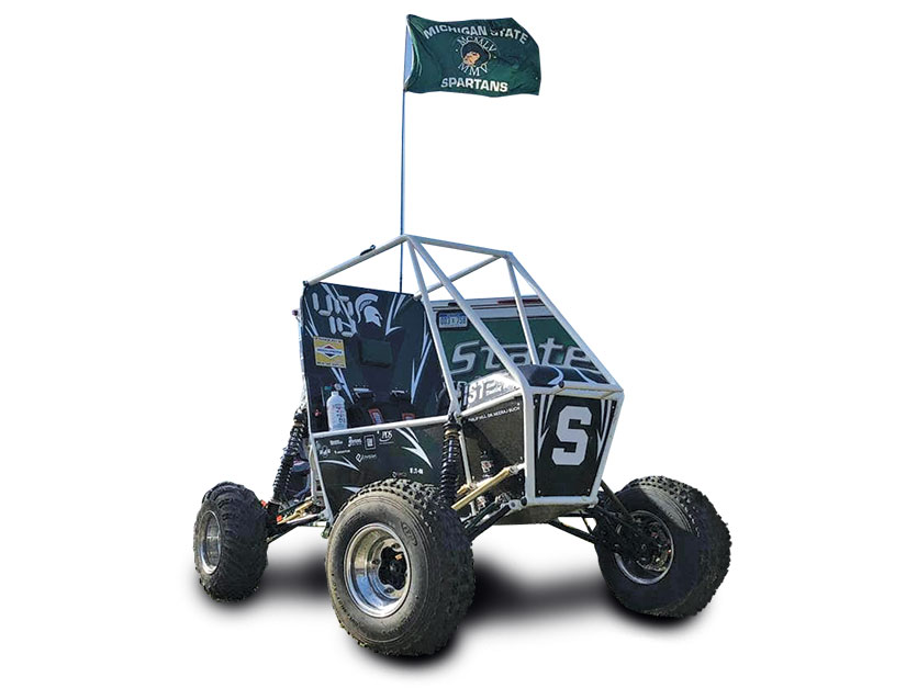 MSU's baja racing car