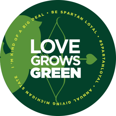 Love Grows Green Badge