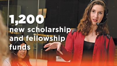 1200 new scholarship and fellowship funds
