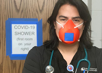 College of Human Medicine student wearing a mask