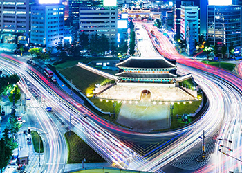 A busy intersection in Korea
