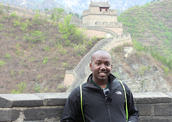 A student on a study abroad trip in China
