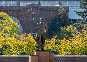 The Sparty Statue in front of Jenison Field House