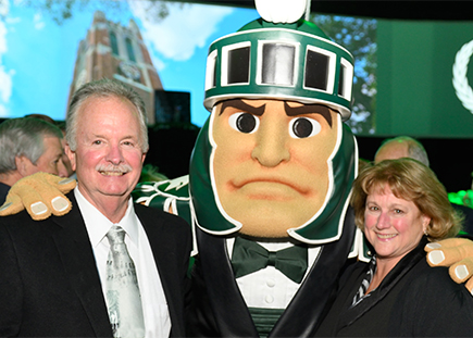 James and Janet Ireland with Sparty